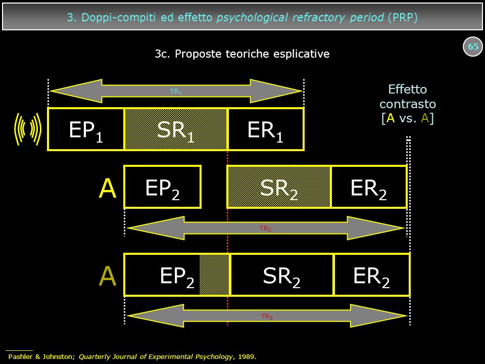 A EP2 SR2 ER2 EP1 SR1 ER1 Effetto contrasto [A vs. A]